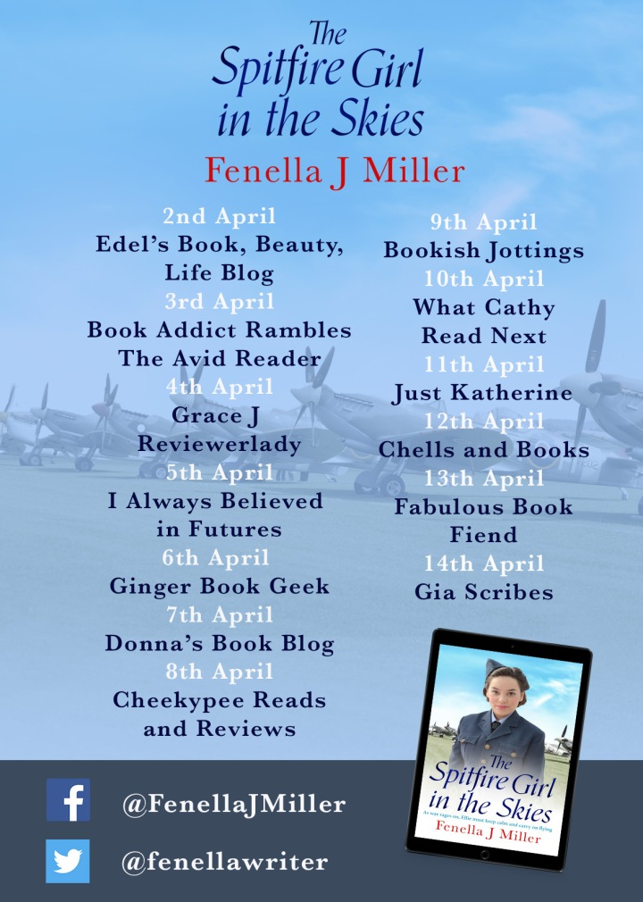 The Spitfire Girl in the Skies blog tour poster