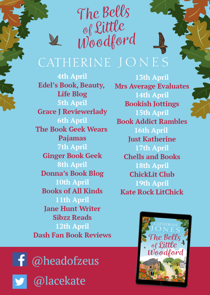 The Bells of Little Woodford Blog tour poster