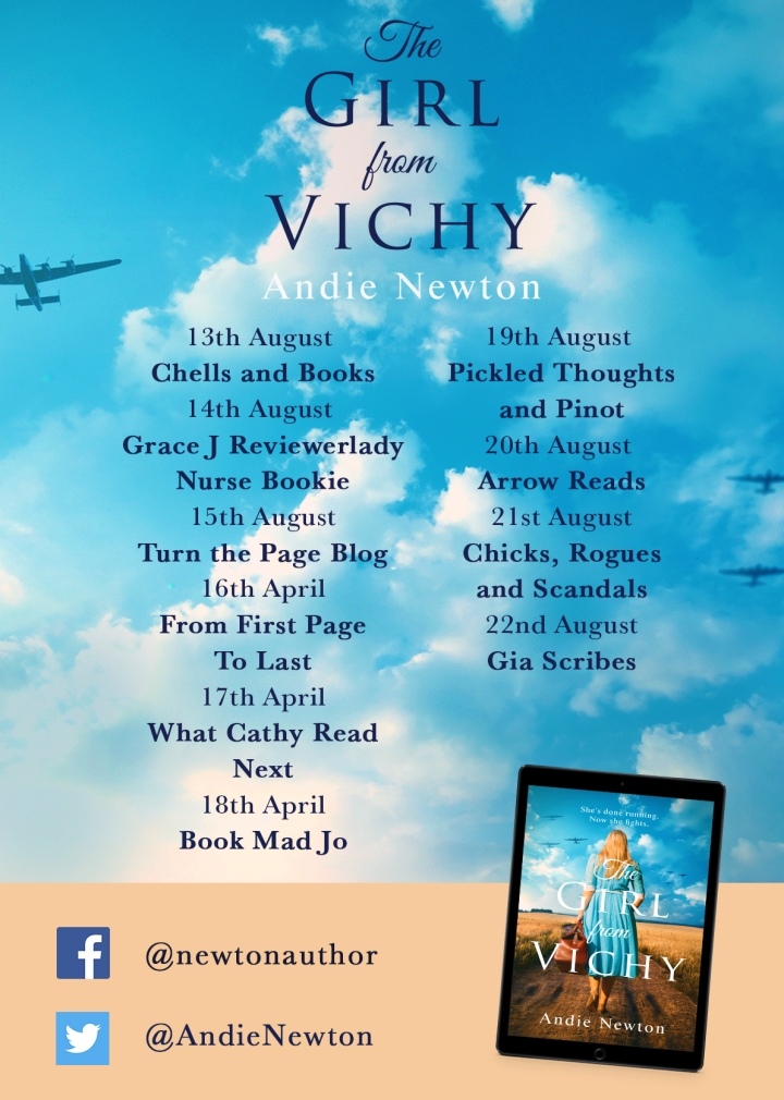 The Girl From Vichy blog tour poster